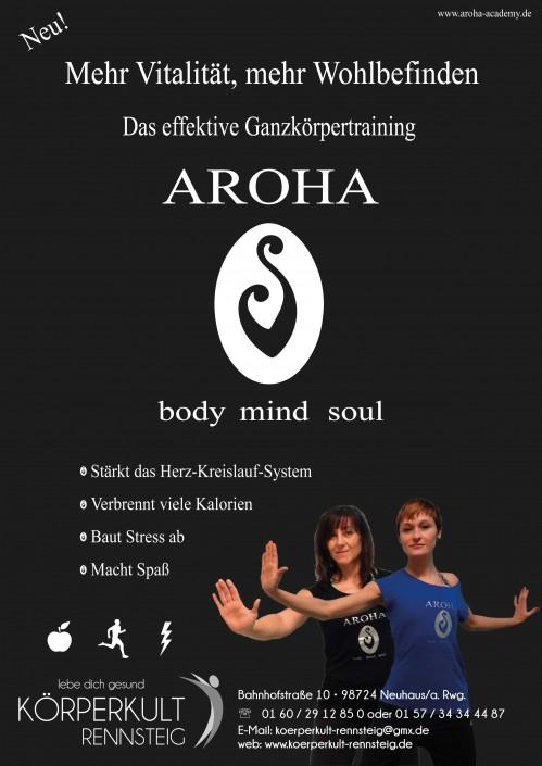 Flyer Aroha für Körperkult Rennsteig