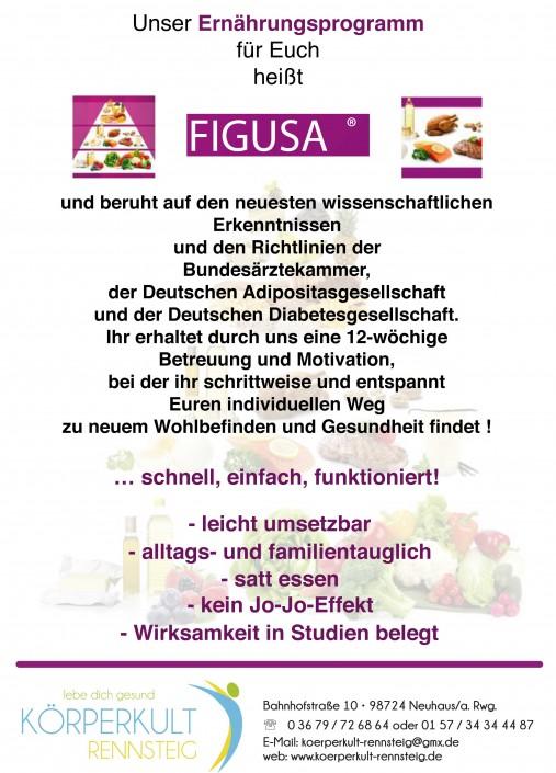 Flyer Figusa für Körperkult Rennsteig