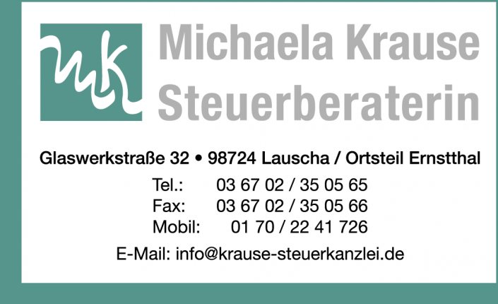 Inserat Steuerberaterin M. Krause
