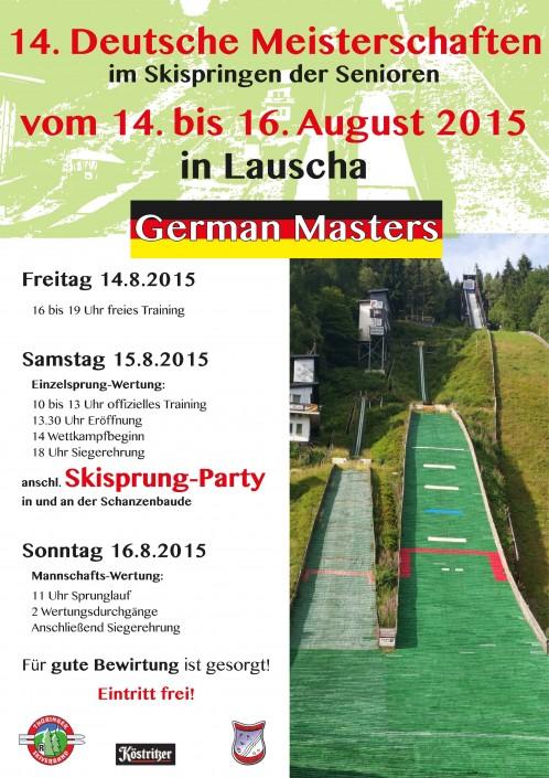Plakat zur German Masters
