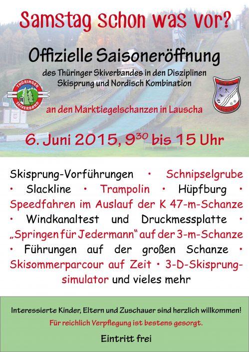 Flyer zur Saisoneröffnung Thüringer Skiverband