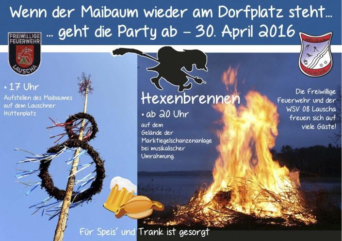 "Flyer zum 30. April –© Grafikstudio ""visuell"""