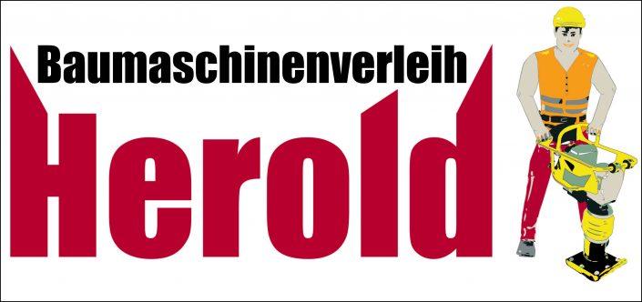 Logo BaumaschinLogo Baumaschinenverleih Heroldenvermietung Herold
