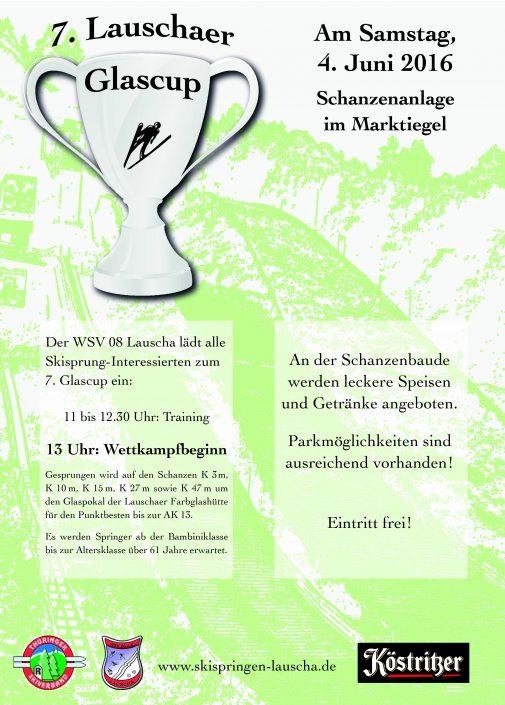 Flyer zum 7. Glascup in Lauscha